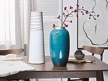 Decorative Vase Blue Terracotta Elegant
