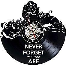 Decorative Vinyl Record Wall Clock Lion King Design