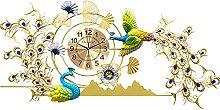 Decorative Wall Clock Large,Peacock Wall Clocks