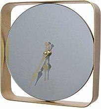 Decoris DHO4063427 Clock, Glass, Iron, Gold, 24 x