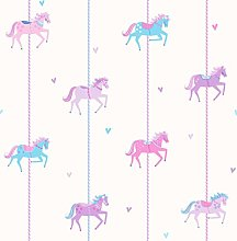 Decorline Carousel Wallpaper, Purple