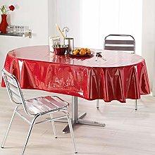 Decorline Oval Tablecloth 140X240 Plain