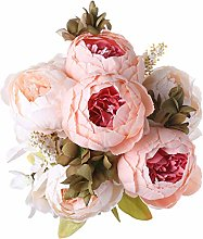 Decpro 1 Pack Artificial Peony Bouquet,