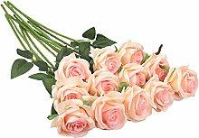 Decpro 12Pcs Artificial Roses, 19.7''