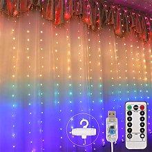 Deeabo 1.5 * 2m 210 LED Rainbow Light Curtain