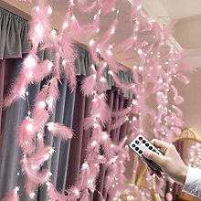 Deeabo 3 * 2M 200LEDs Feather Curtain String