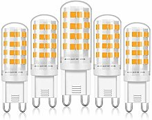 Deeabo 5Pcs G9 LED Bulb, 2835 SMD LED Chip