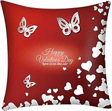 DEELIN Valentines Cushion Covers,Print Pillow Case
