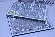 Deenz 20X30Cm Crushed Diamond Crystal Placemat