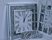 Deenz Ex Large 60cm Square Crushed Jewel Mirror