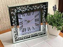 DEENZ Floating Jewel Diamante Wall Clock Elegant
