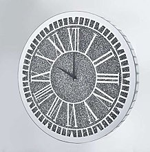 DEENZ Large crushed crystal jewel Wall Clock Round