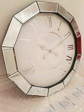 DEENZ Large Round Mirror Edge Wall Clock Shabby