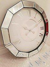 DEENZ Large Round Mirror Edge Wall Clock Shabby