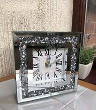 DEENZ Loose Diamante Desk Clock Elegant Diamond
