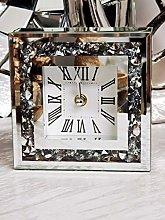 DEENZ Loose Diamante Desk Clock Elegant Luxury