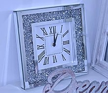 DEENZ Loose Diamante Silent Wall Clock Elegant