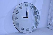 Deenz New Round Crushed Jewel Mirror Wall Clock