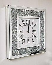 DEENZ Wall Clock Large Square Luxury Diamond
