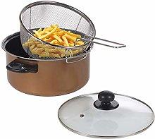 Deep Fat Fryer Set Copper Look Chip Pan