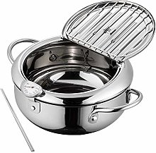 Deep Fryer with Thermometer and Lid,nonstick