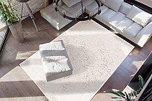 Deep-Pile Bedroom Rug Soft Fluffy Plain Cream Gold