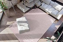 Deep-Pile Rug Taupe Silver Bedroom Soft Fluffy