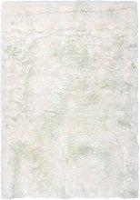 Deep-Pile Shaggy Rug Very Soft Cosy Fluffy White