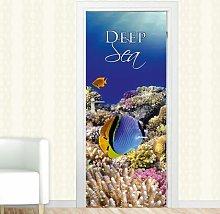 Deep Sea Door Sticker East Urban Home
