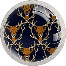 Deer Buckhorn Pattern Drawer Knobs Pulls Cabinet