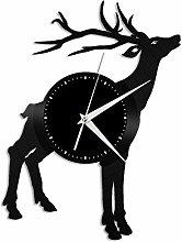Deer (e) vinyl wall clock, vinyl record home