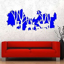 Deer Family Wall Decal Natural Forest Animal Vinyl