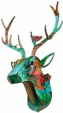Deer Head Wall Sculpture Home Decoration Stag 3D