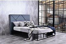 Deer Metal Kingsize (5') Upholstered Bed Frame