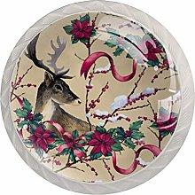 Deer Pattern Drawer Round Knobs Cabinet Pull