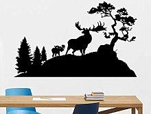Deer Wall Decal Landscape Tree Nature Animal Vinyl