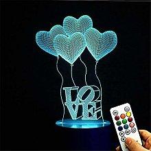 Deerbird® 4 Love Heart Balloons 3D Visual