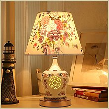 Deevin Simple Modern Ceramic Table Lamp, Blue And