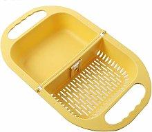 DEF Foldable Colander Plastic Strainer, Household