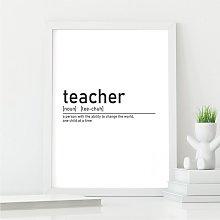 Definition of Teacher Wall Art Print | Teacher