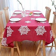 Deggodech Red Christmas Tablecloth Rectangle with