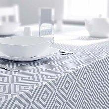 Dehaus® GEO Grey Wipe Clean PVC TABLECLOTH