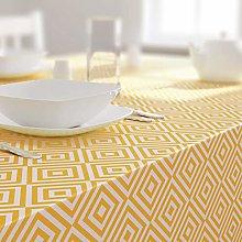 Dehaus® GEO Table Cloth OCHRE, PVC Table Cloth,