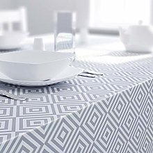 Dehaus® GEO Tablecloth GREY, Wipeable