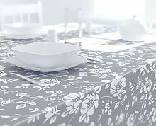 Dehaus® GREY Beautiful Wipe Clean PVC TABLECLOTH