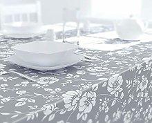 Dehaus® GREY Stylish Wipe Clean PVC TABLECLOTH