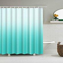 DeKeLaiFu Polyester Teal Fabric Shower Curtain