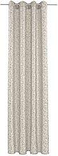 Deko Trends Eyelet Curtain, Fabric, Beige