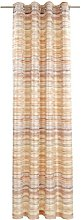 Deko Trends Eyelet Curtain, Fabric, Brown