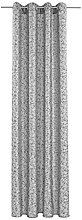 Deko Trends Eyelet Curtain, Fabric, Grey